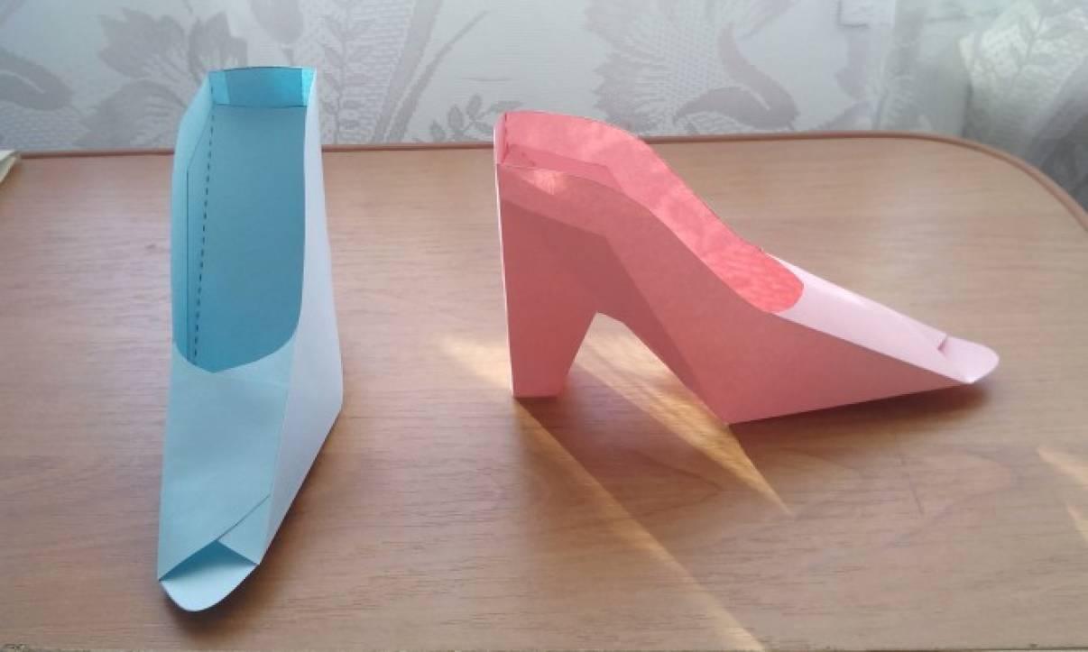 Туфли из бумаги 116