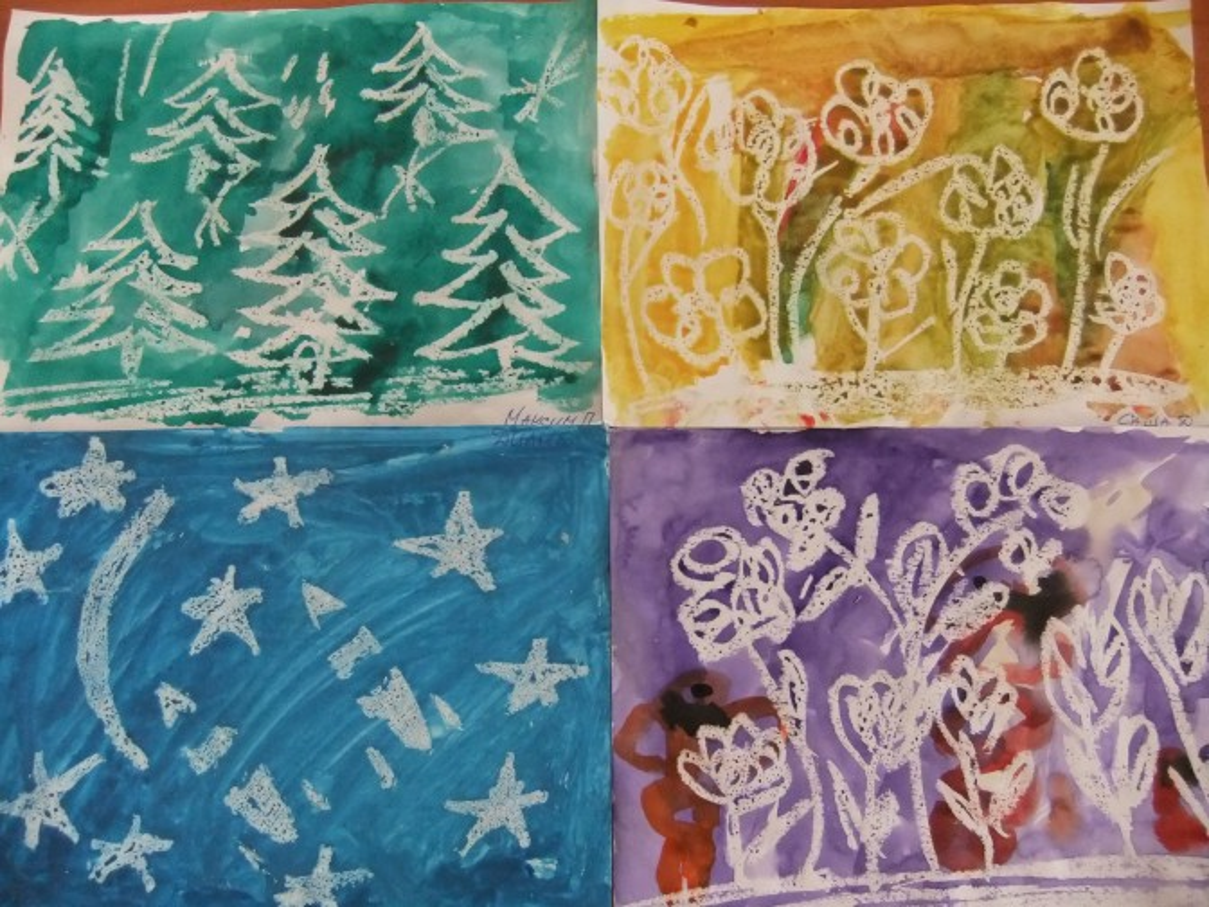 Рисование в средней группе на тему новогодняя открытка