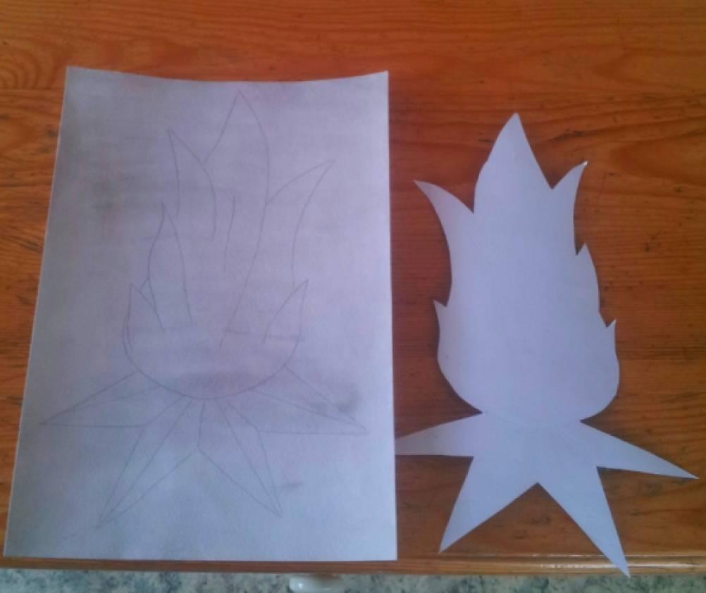 Вечный огонь из бумаги с шаблонами