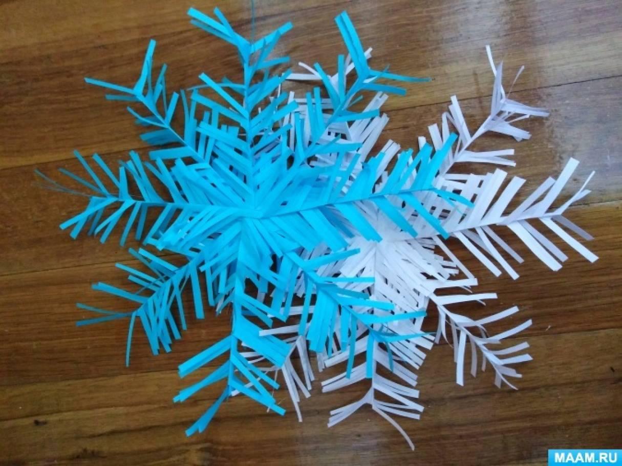 Мастер-класс с использованием бумаги для принтера «Снежинка»