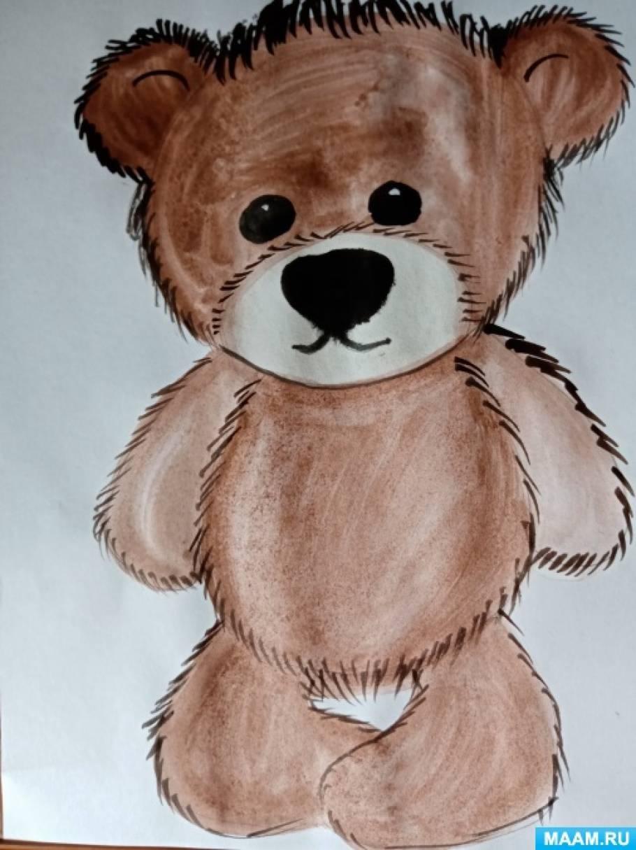Мастер-класс по рисованию «Медвежонок» для детей старшего дошкольного возраста