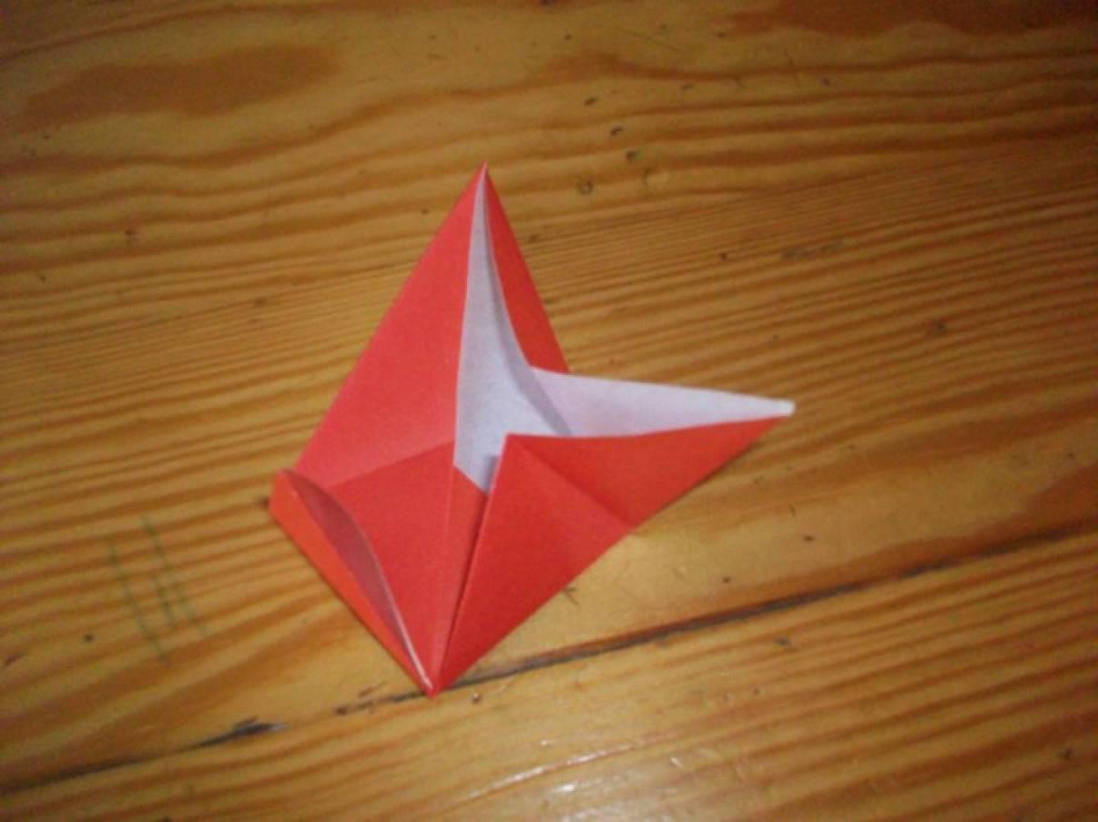 Оригами кленовый листочек