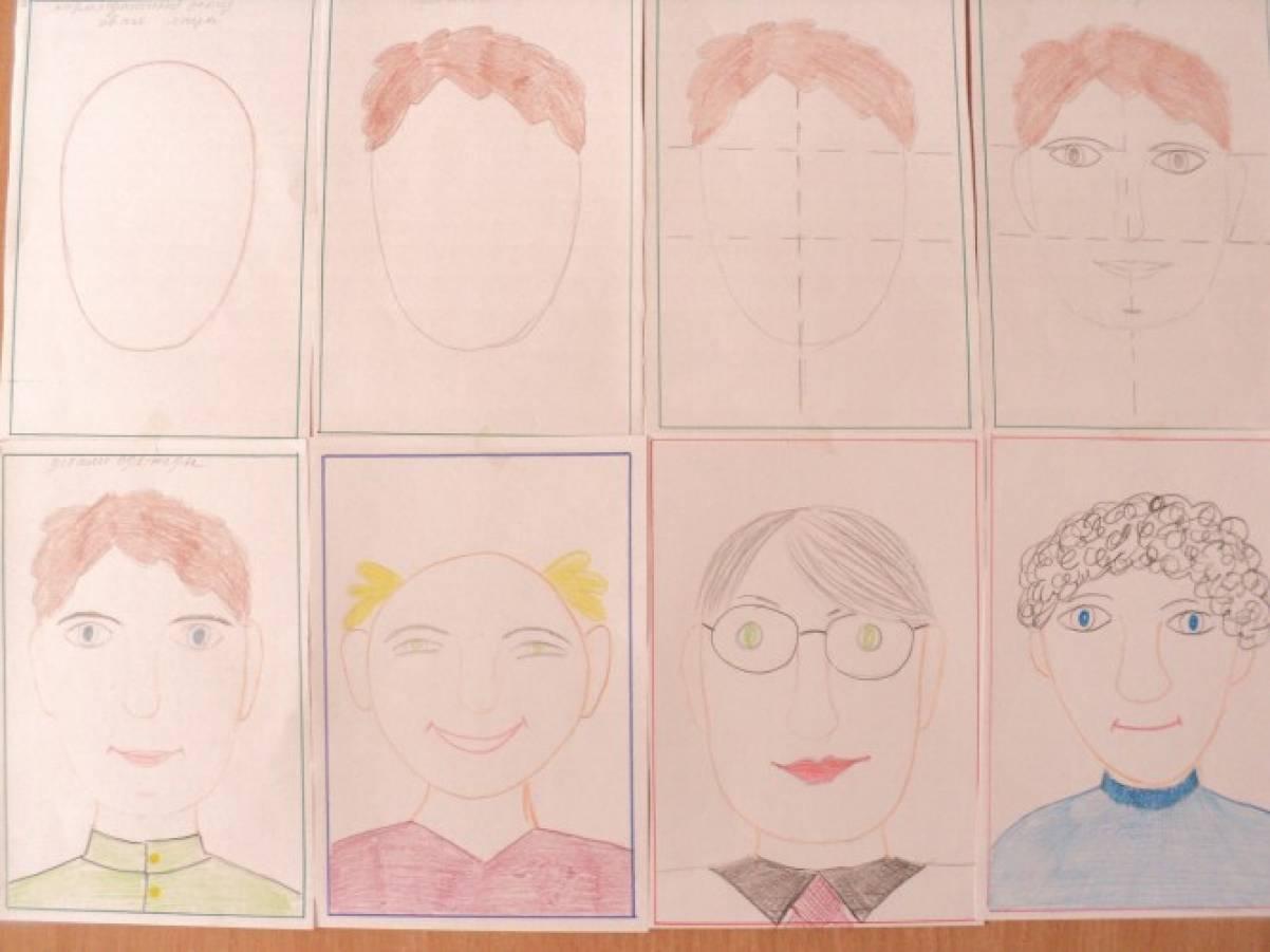 Рисование человека поэтапно для детей подготовительной группы
