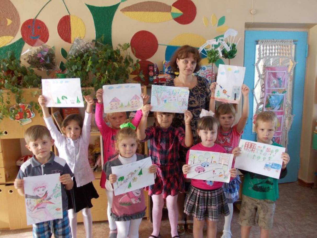 Фотоотчёт о проведении конкурса рисунков на тему «Наше село глазами детей».