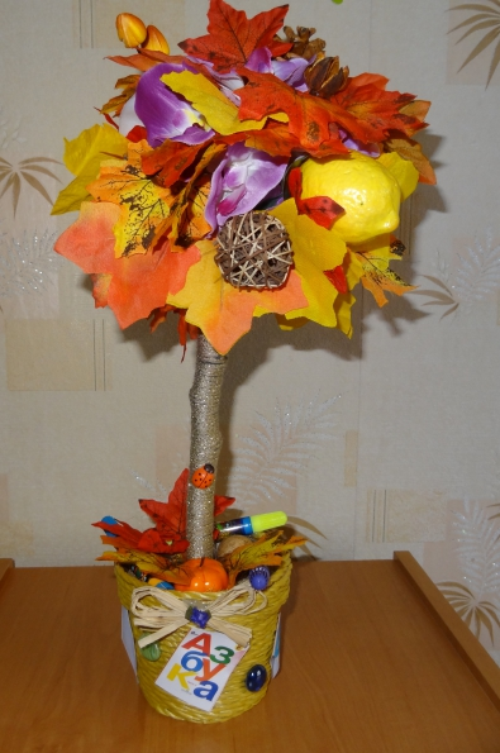 Подарок на день учителя топиарий