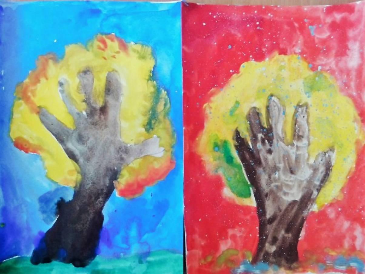 Картинки дерево ранняя осень