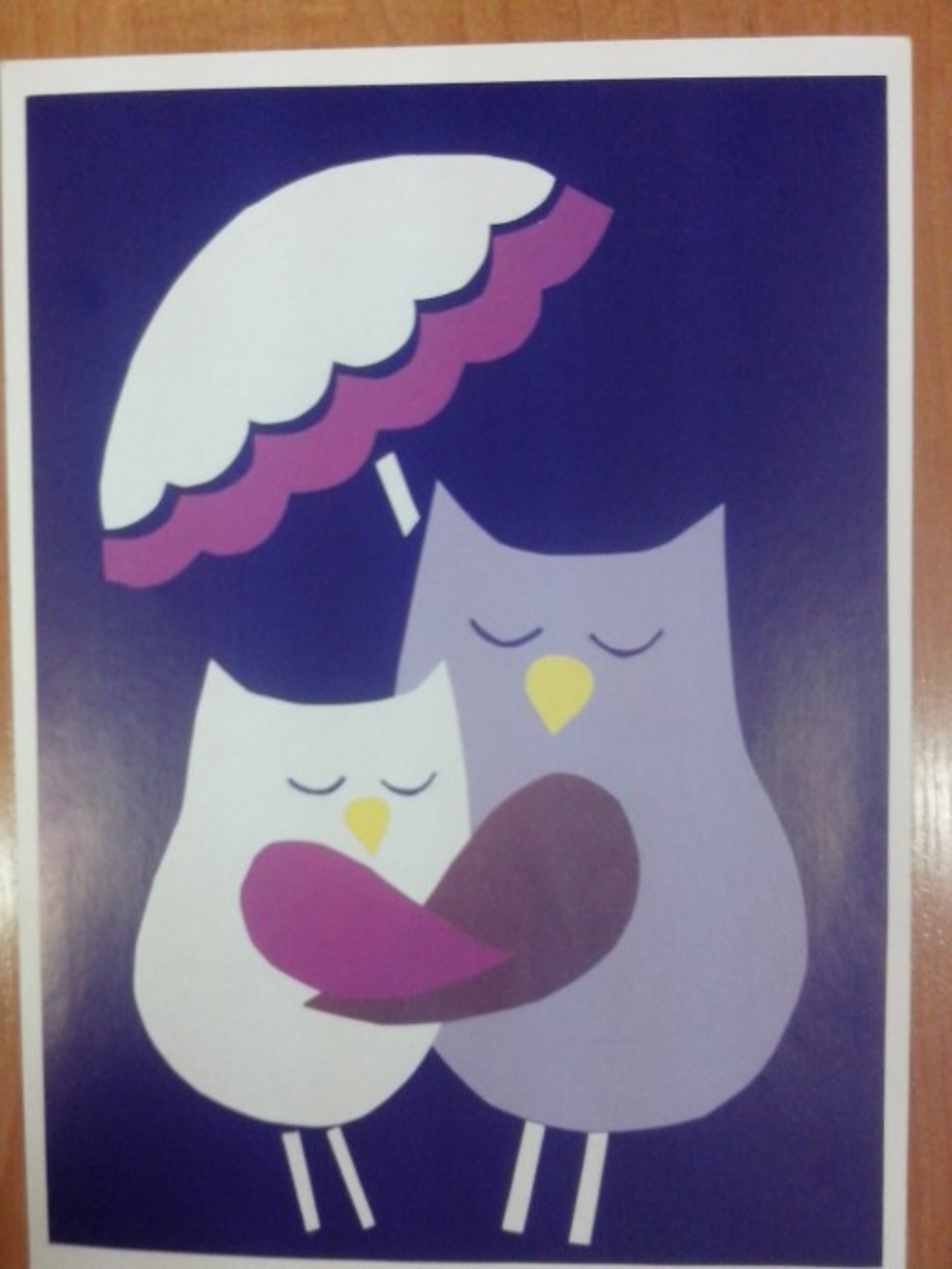 Совы открытка на день матери