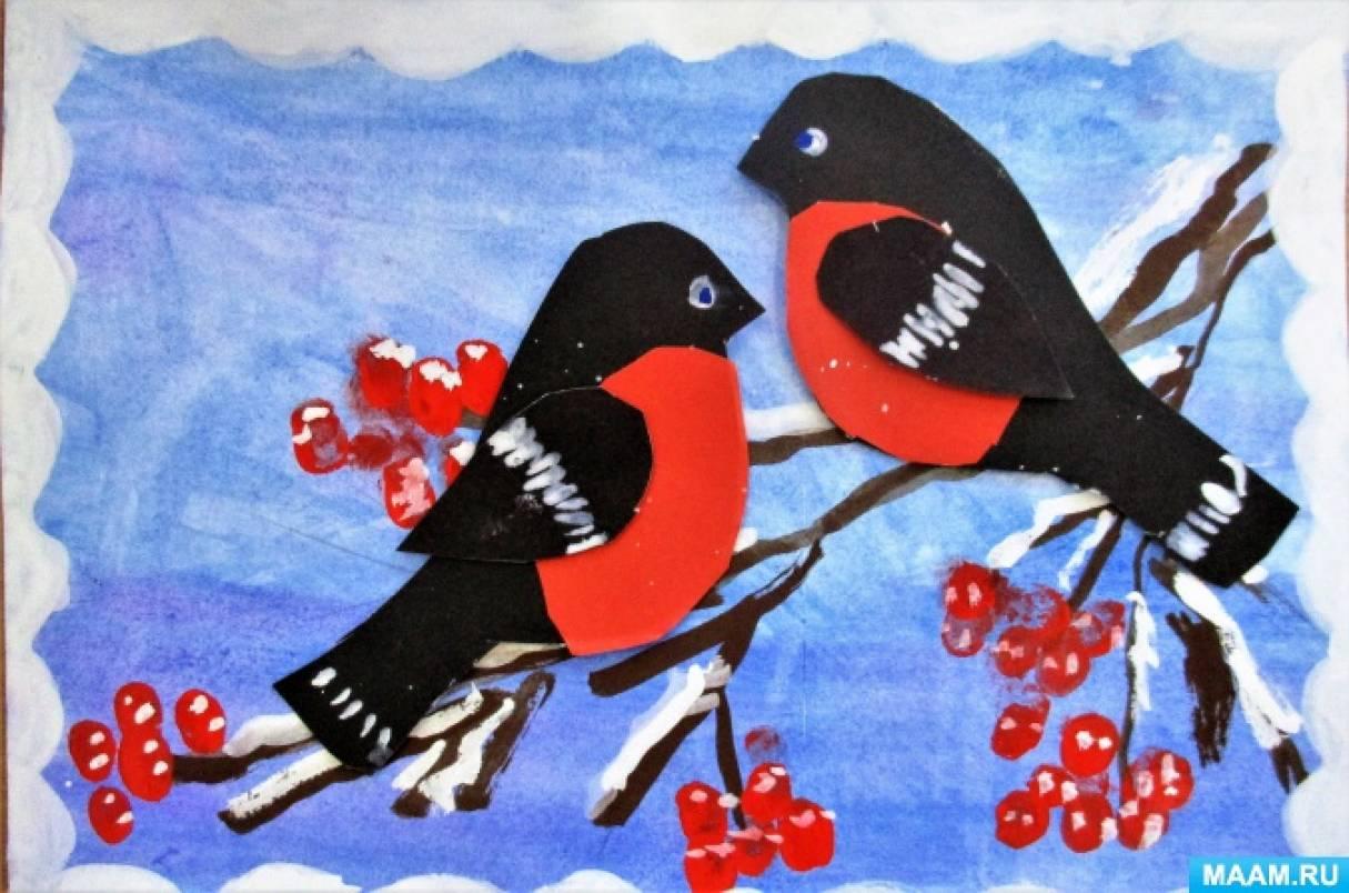 знакомим с зимующими птицами