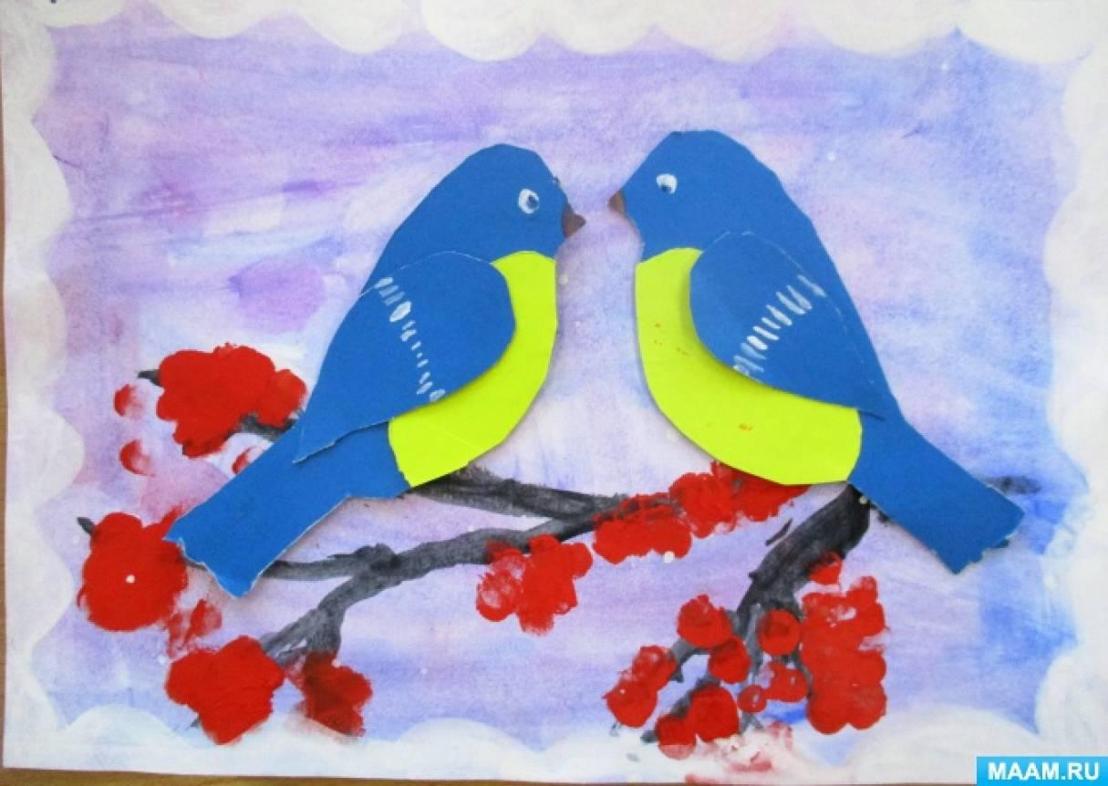 знакомство с зимующими птицами