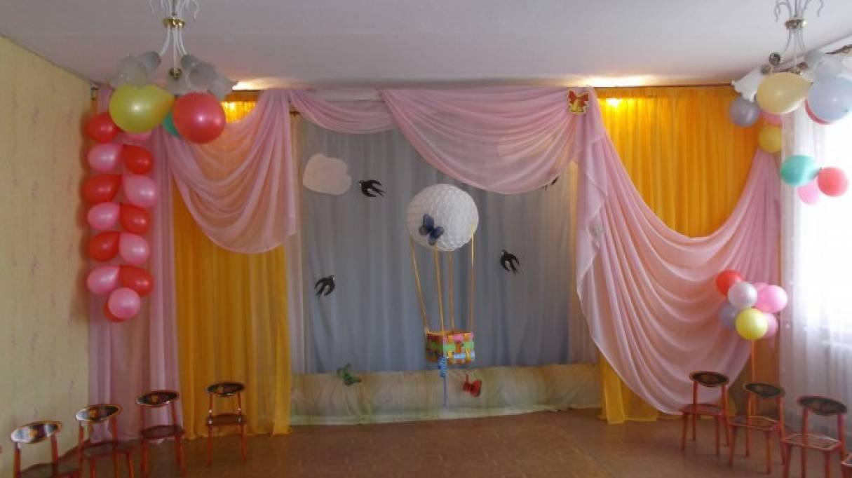 Идея оформления музыкального зала к выпускному празднику