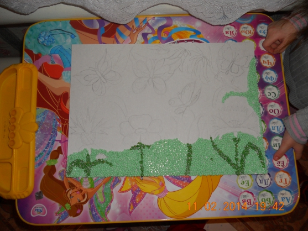 Картины из бумажных салфеток