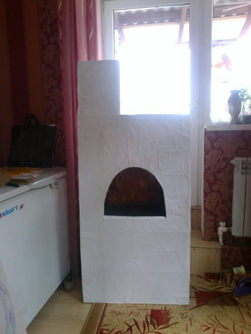 Русская печь своими руками из коробок