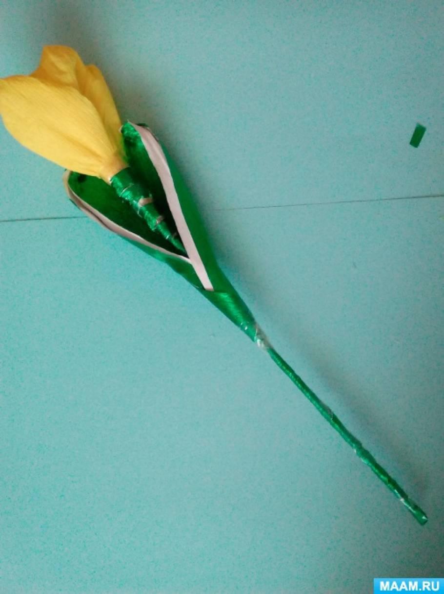 Мастер-класс по изготовлению цветка «Тюльпана» из гофрированной бумаги