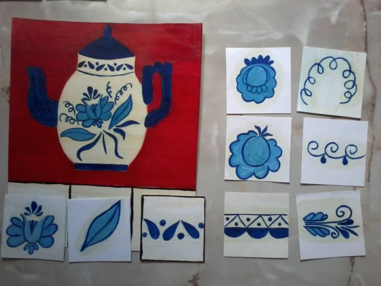 О городецкой росписи в детском саду картинки