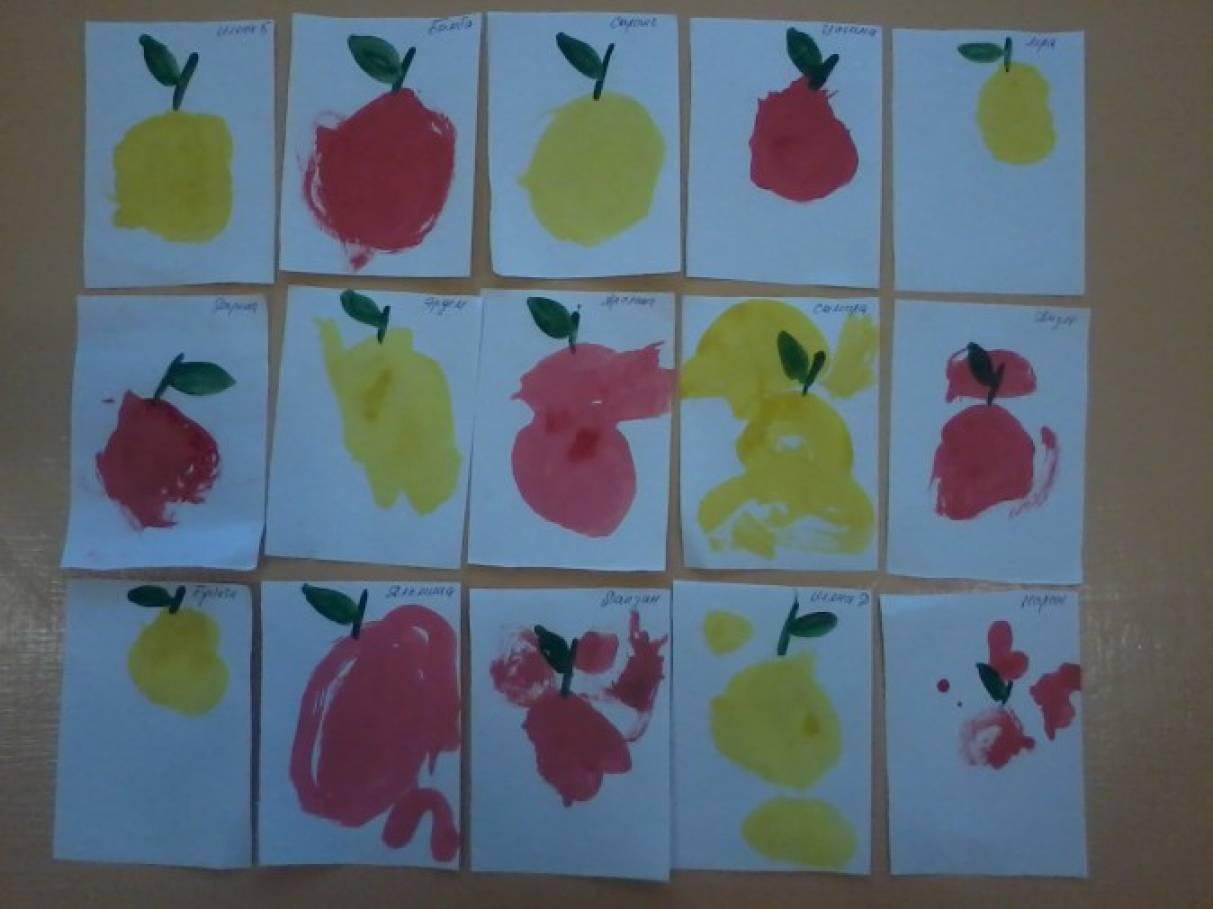Конспект занятия рисование что за яблочко оно соку спелого полно во второй младшей группе