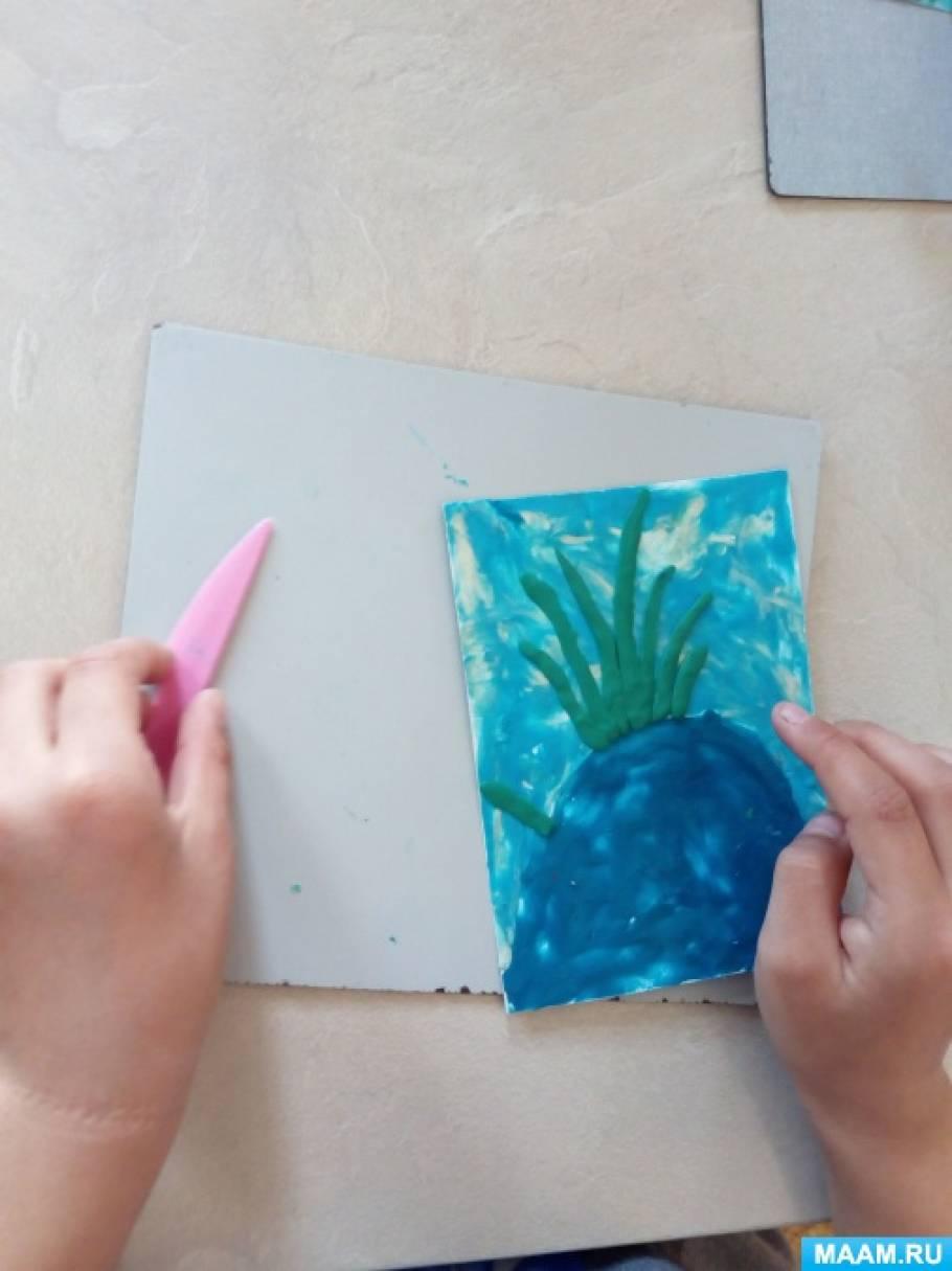 Детский мастер-класс по пластилинографии «Лягушачье озеро»