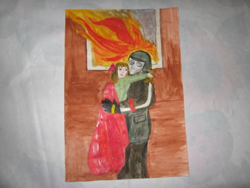 рисунки на пожарную тему: