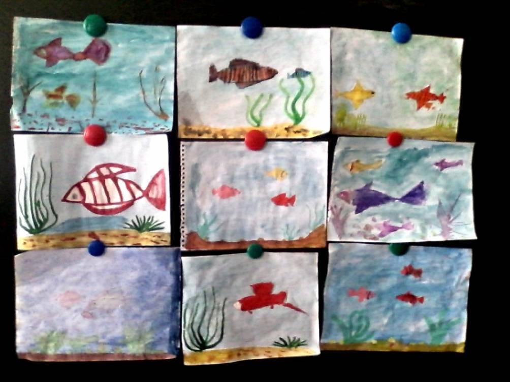 урок изо во 2 классе с презентацией обитатели подводного мира