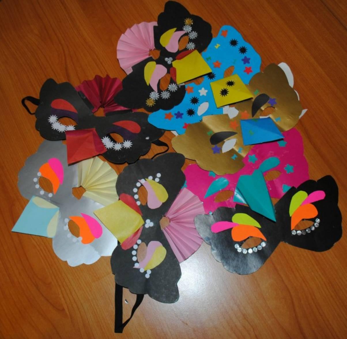 Детские новогодние маски синички картинки