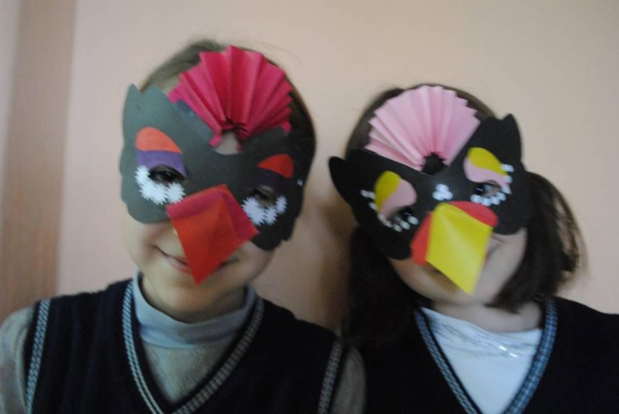Изготовление маски своими руками с детьми 19
