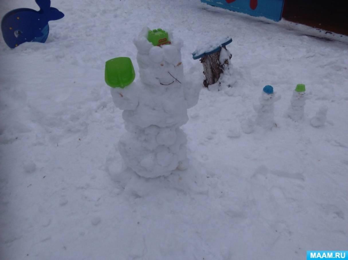 Фотоотчет «Зимние поделки из снега»