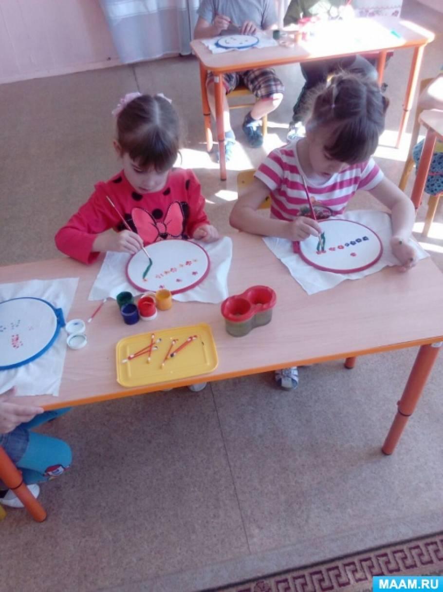 Конспект НОД в подготовительной группе «Я вышиваю заветный платочек»