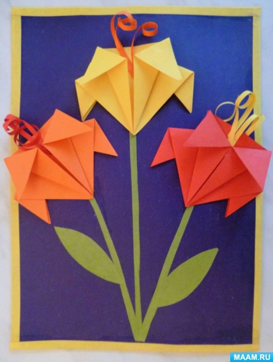 8 марта открытка из оригами, прикол