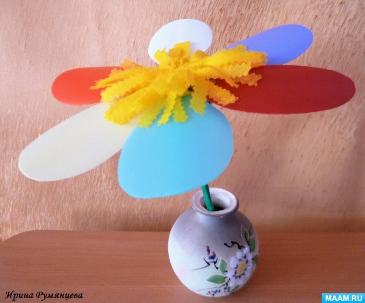 Мастер-класс изготовления атрибута «Цветок со съемными лепестками»