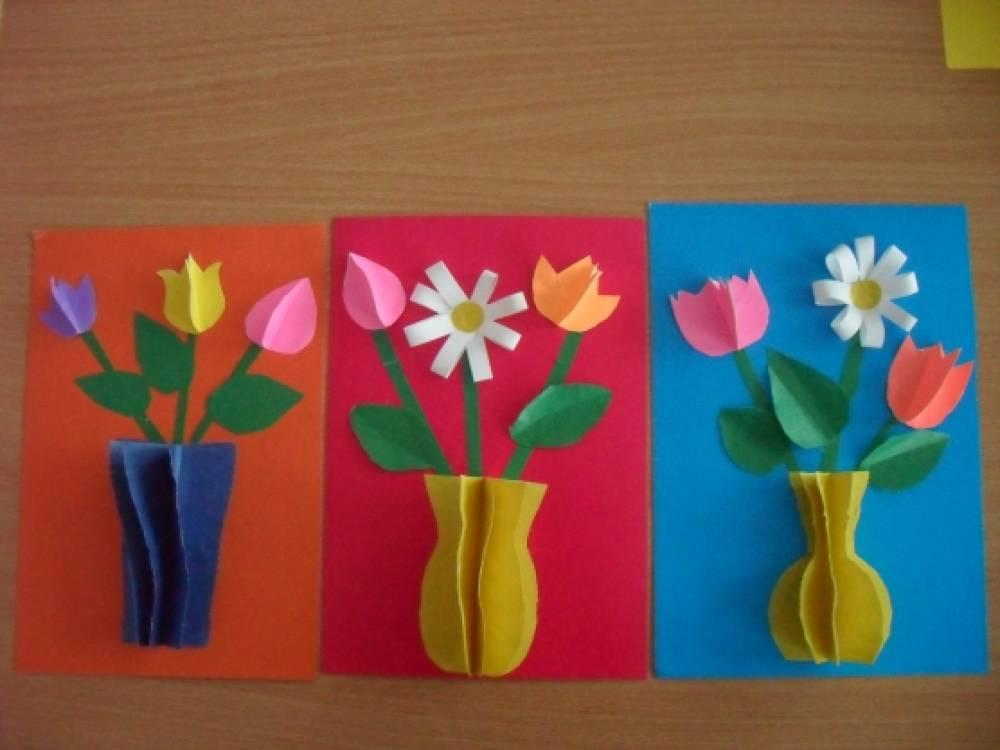 Открытки на 8 марта мамам своими руками в средней группе, осень музыкальные открытка