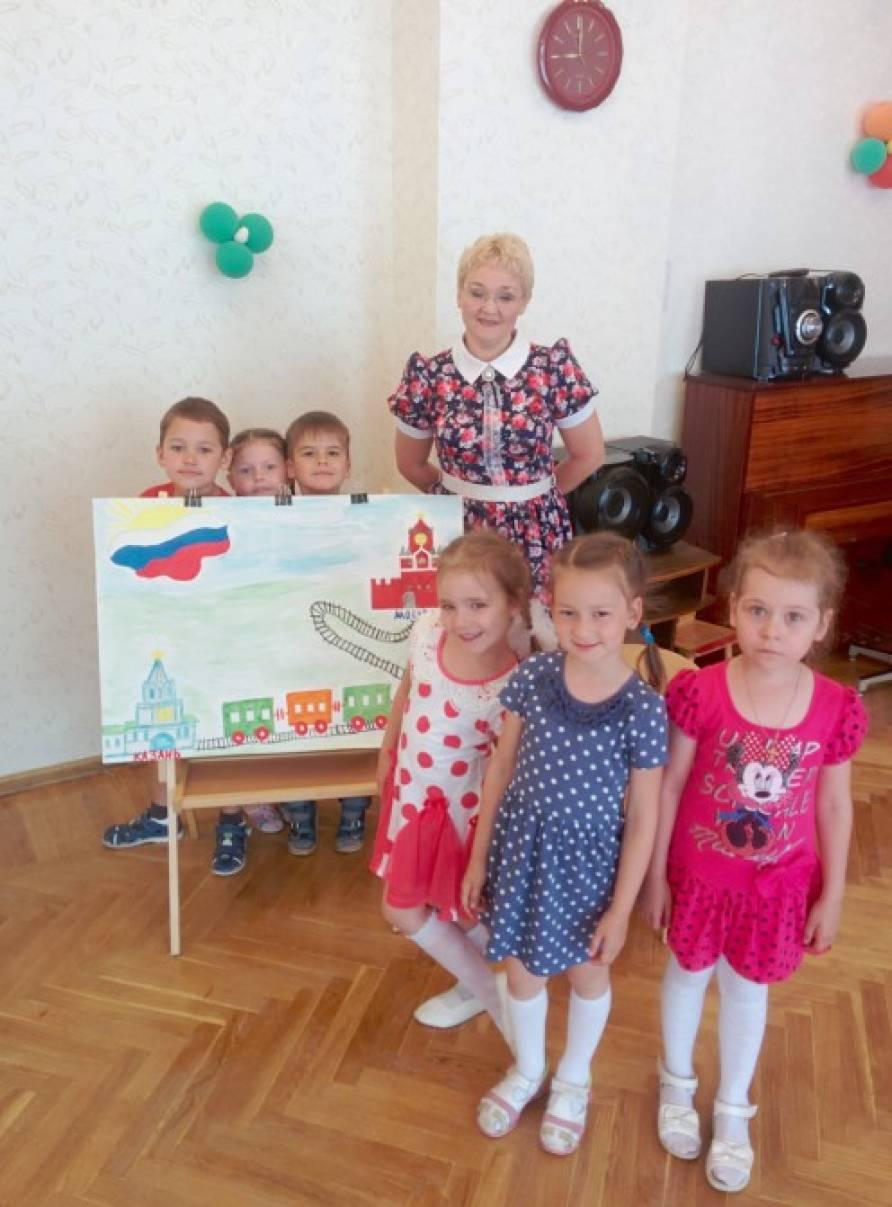 Совместная образовательная деятельность к Дню России в старшей группе «Мы живем в России!»