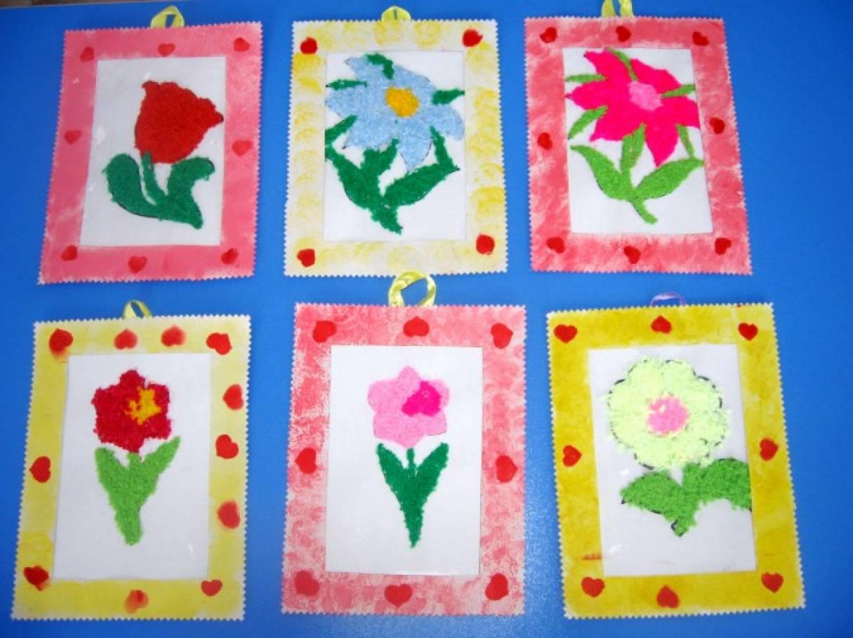 мастер класс по изготовлению цветов из вязаных ниток к 8 марта