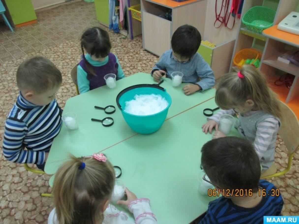 Занятие в средней группе зимовье соколова-микитова