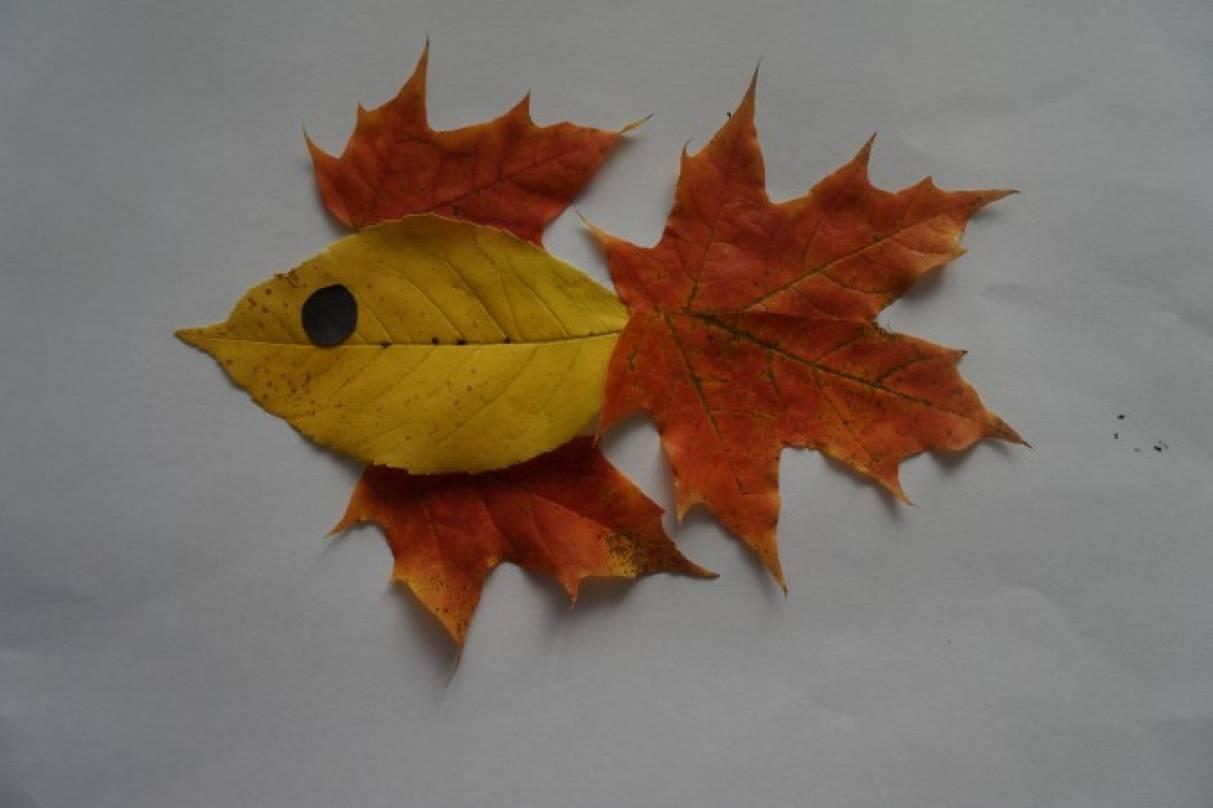 Как сделать подделку из листьев фото 118