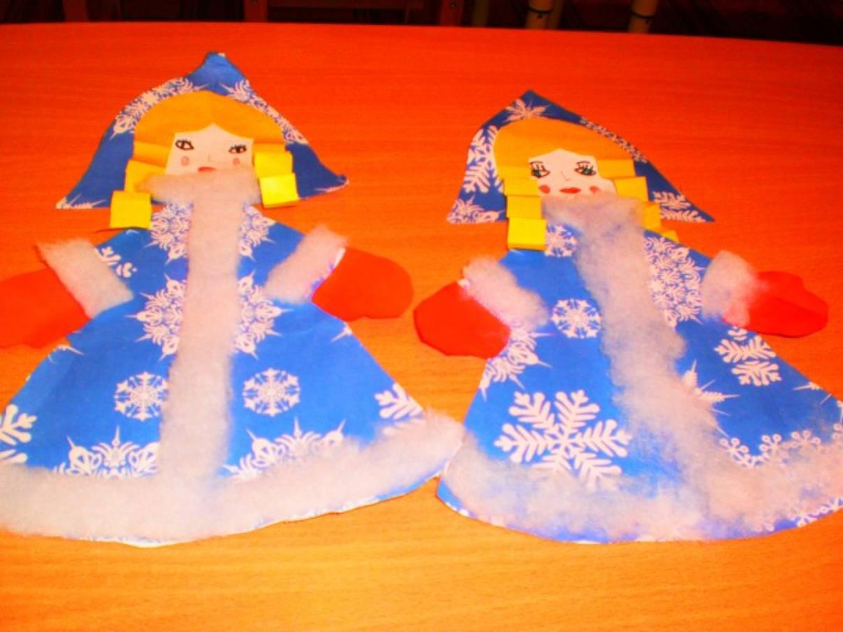 Как с бумаги сделать снегурочку