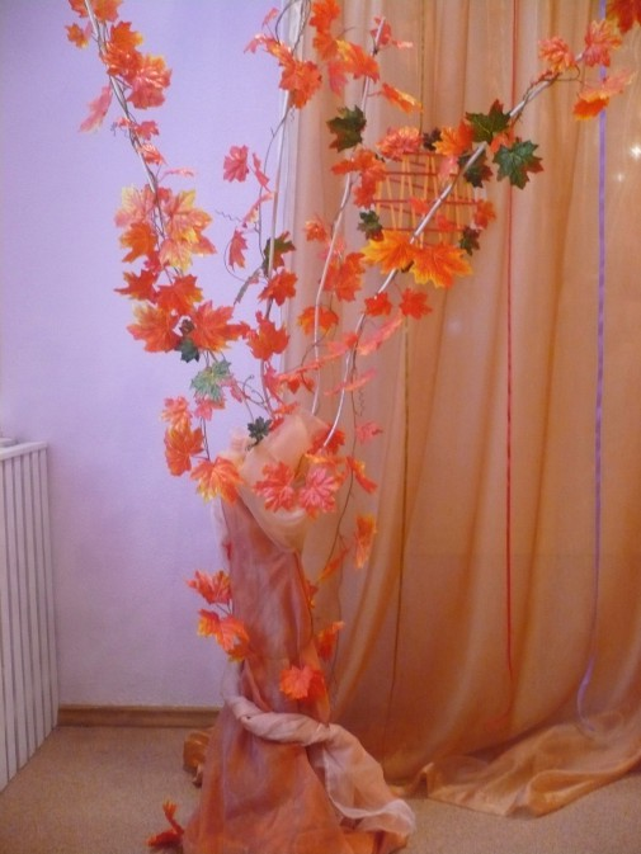 ранних украшение сцены к празднику осени фото мелкая