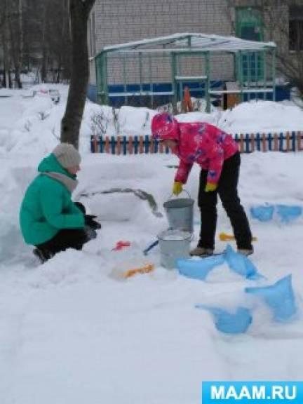 Оформление участка «Мы творили, мастерили, снежную страну лепили»