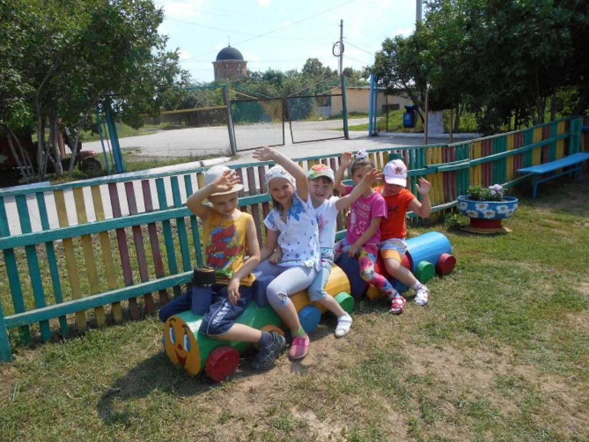 Идеи оформления детских площадок в детском саду своими руками