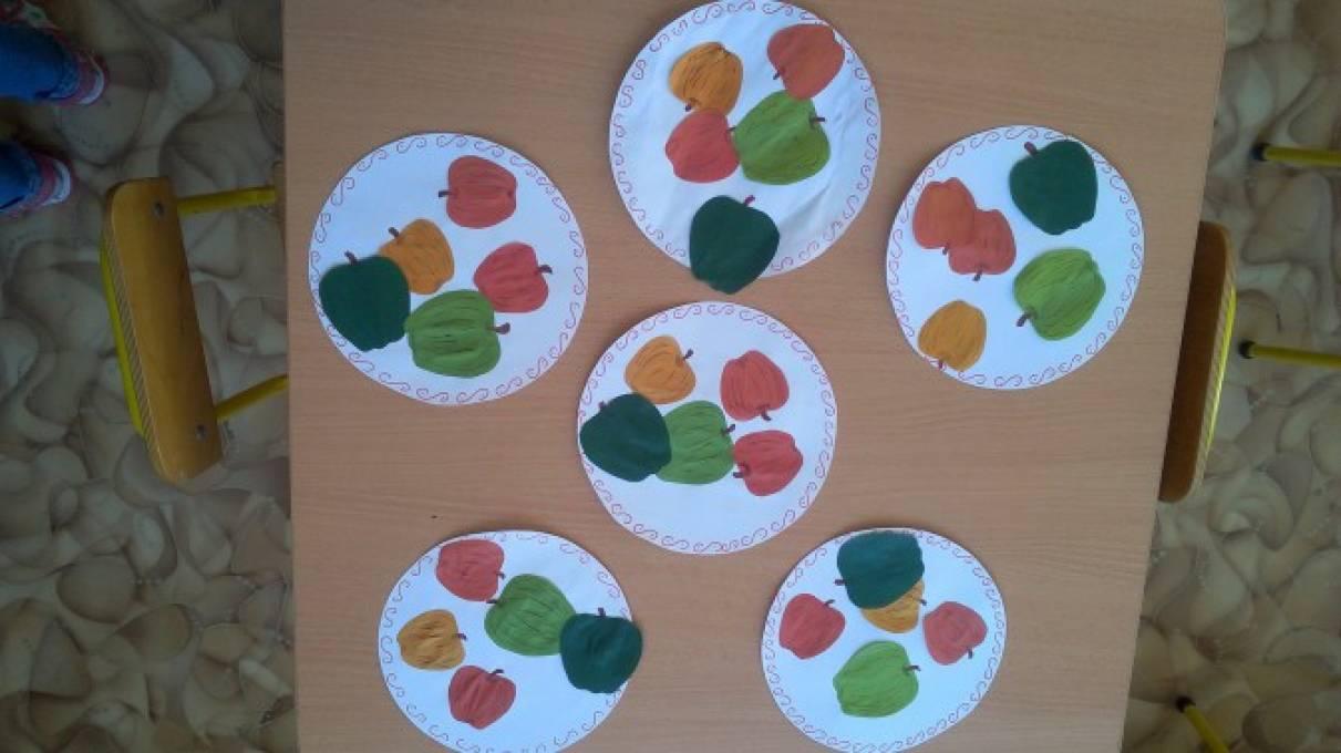 Аппликация 2 младшая фрукты
