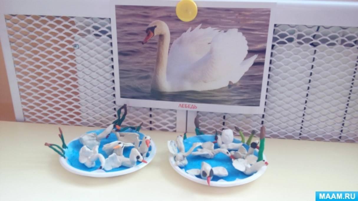 Конспект занятия по лепке «Лебедь»