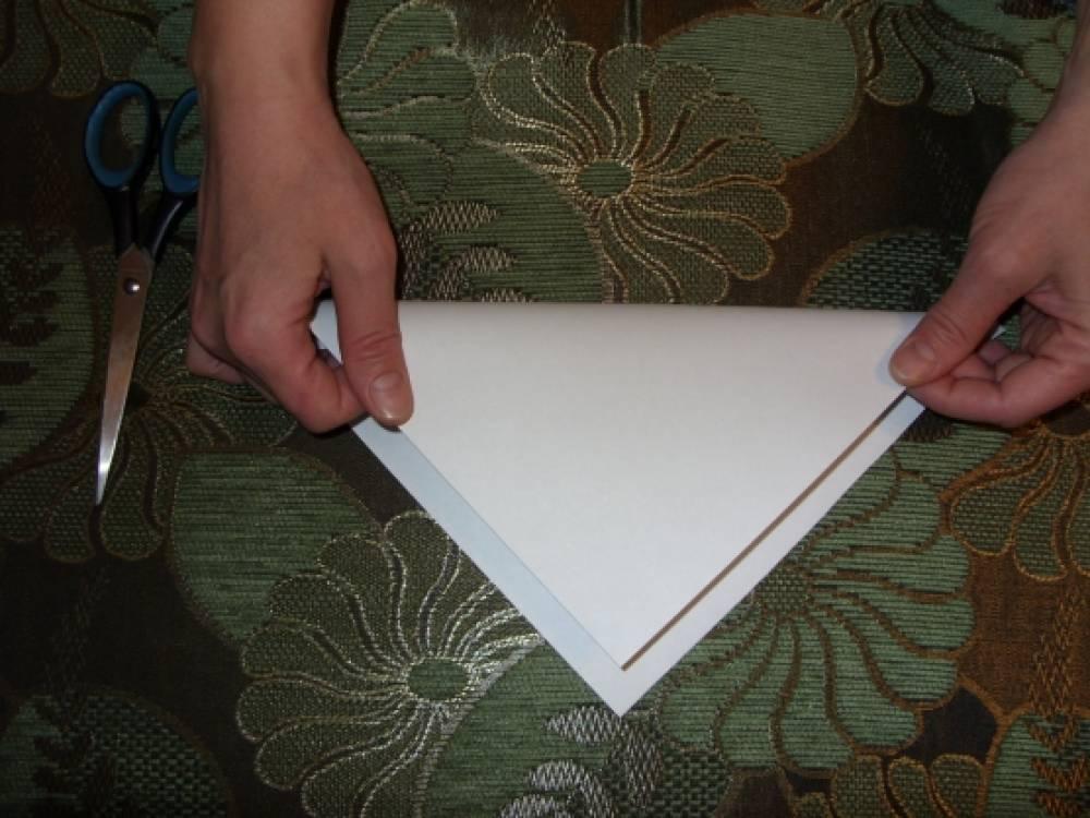 Снежинка пушистая из бумаги