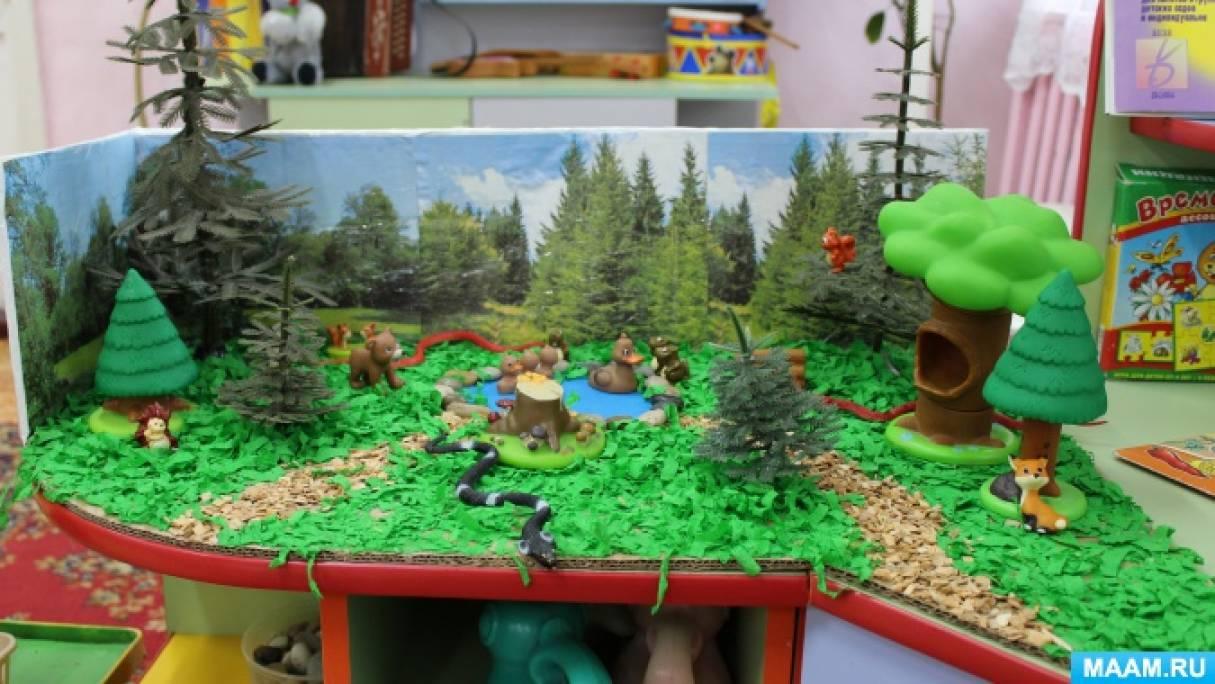 Макет леса своими руками фото 217