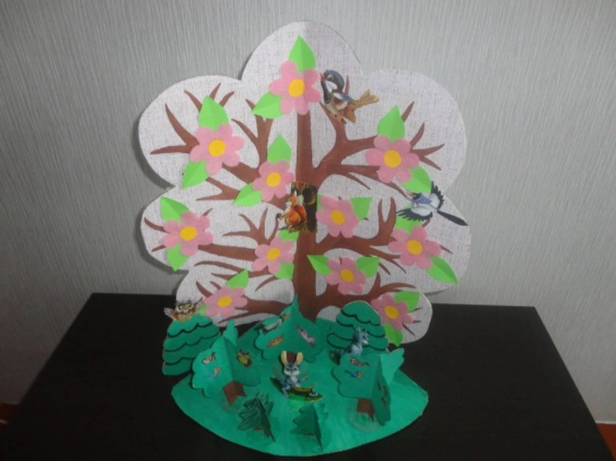 Мастер-класс макета «Весеннее дерево»