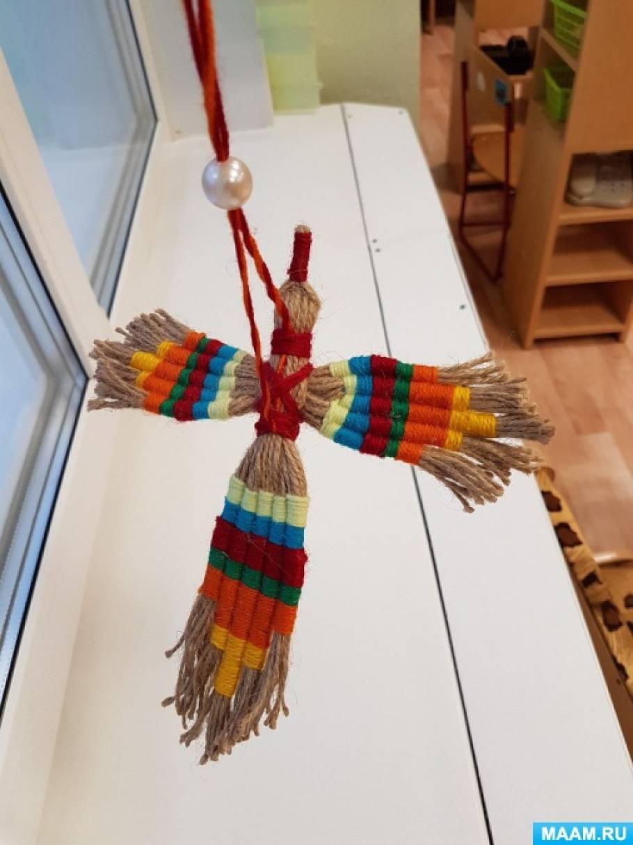 Мастер-класс «Птица счастья из джутового шпагата»