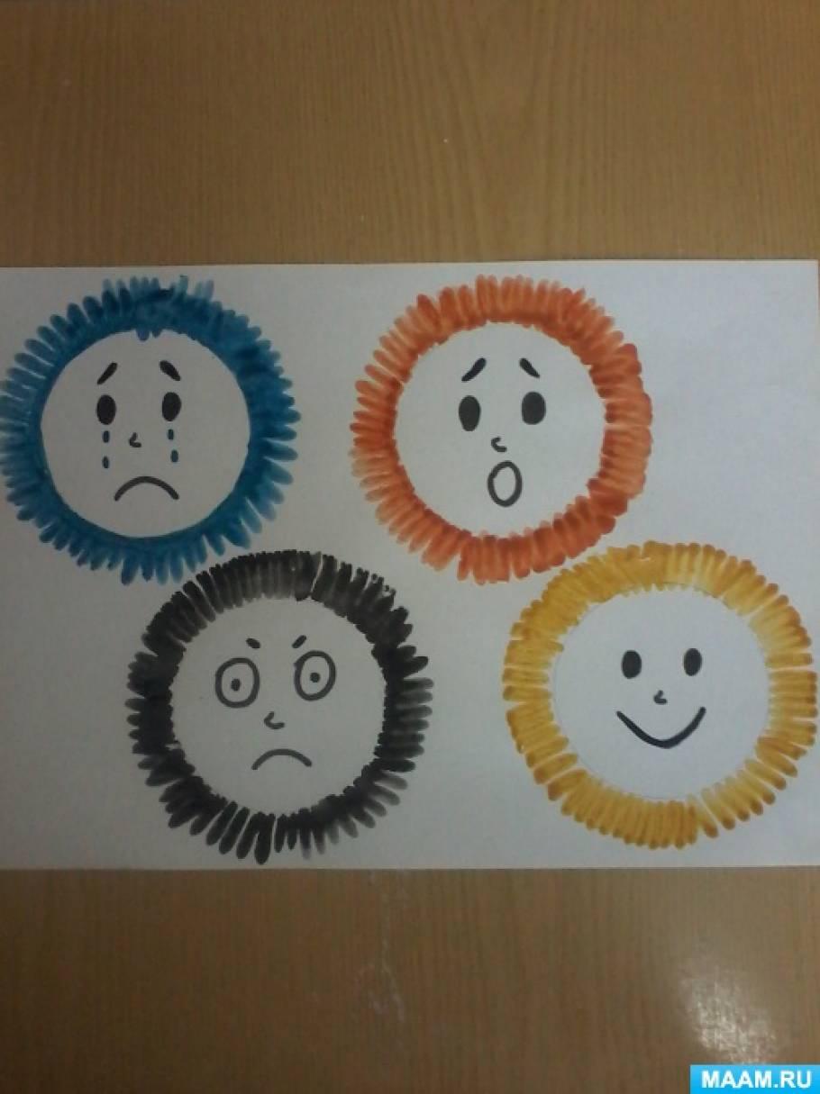 Конспект НОД по развитию эмоциональной сферы детей и рисованию в старшей группе «Взъерошенные человечки»