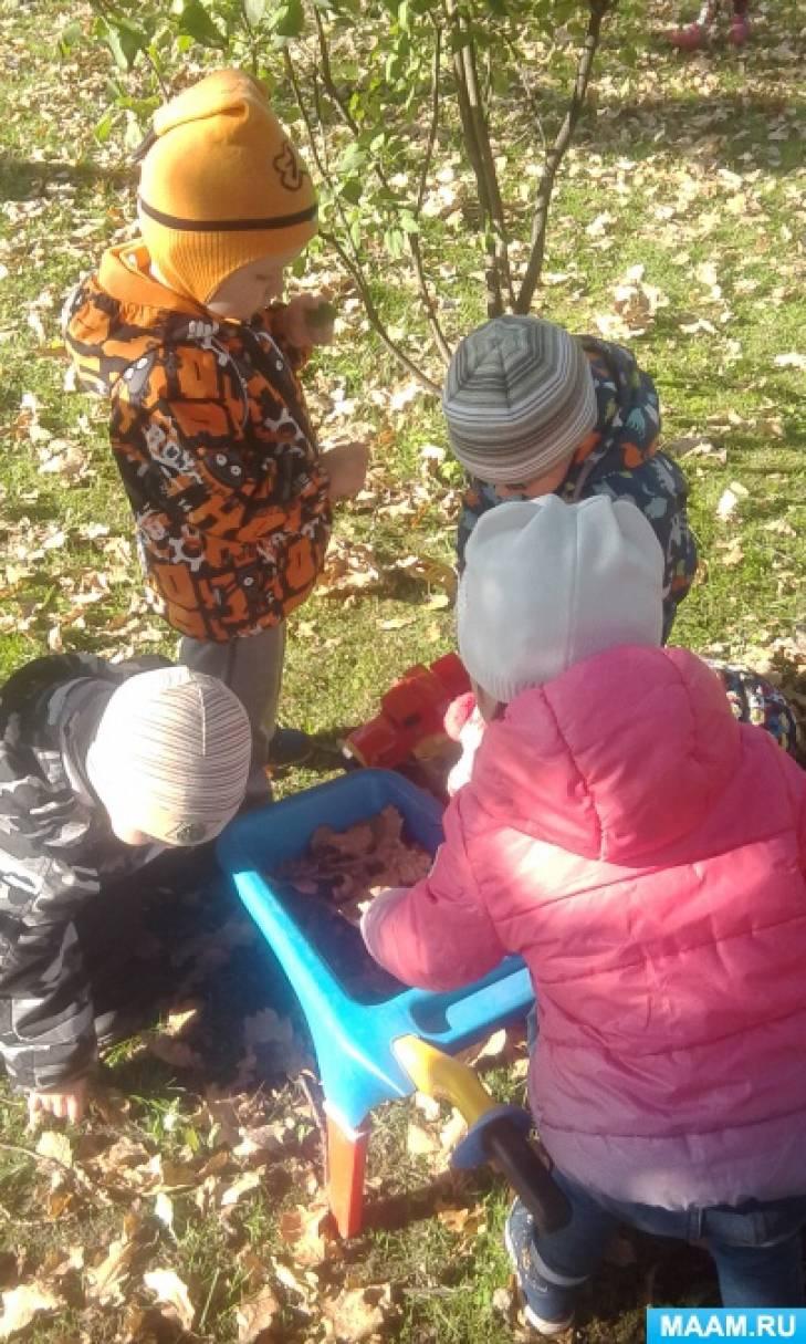 Прогулка в детском саду. Фотоотчет