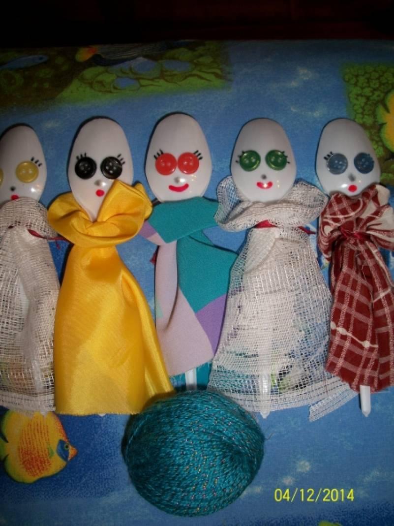 Кукольный театр из ложек своими руками 61