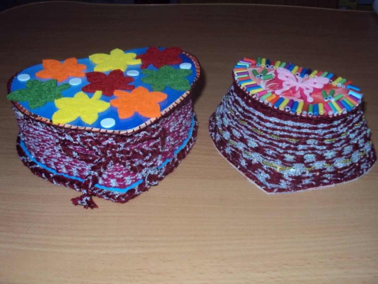 поделки шкатулок из разных материалов