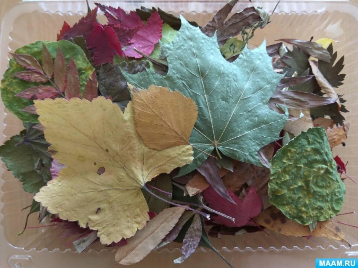 Ежик из сухих листьев 138