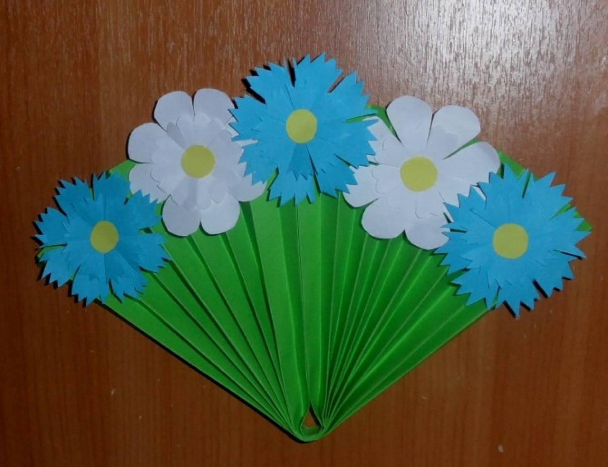 Поделки в садики цветы 963
