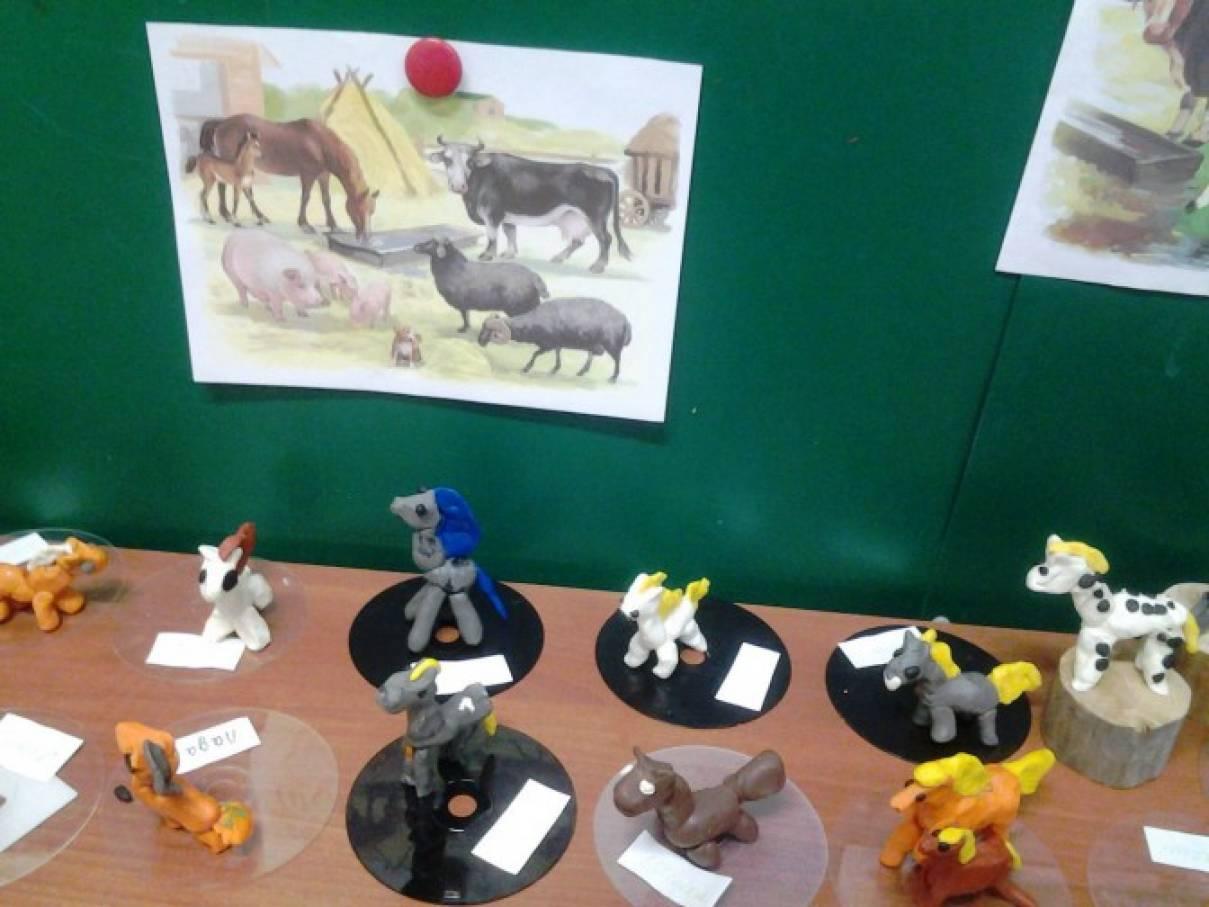Конспект занятий в детском саду по лепке тема домашние животные